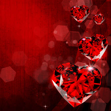 heart brilliants red valentines photo