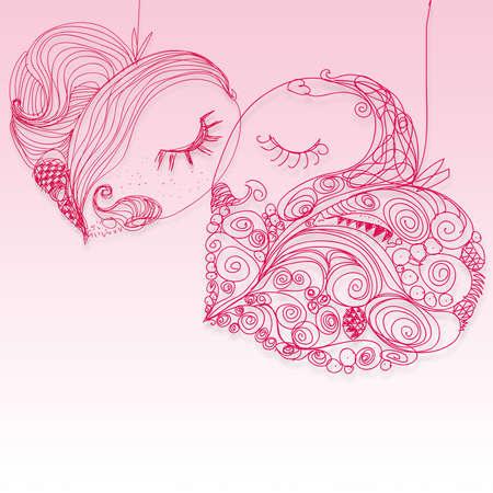 hand draw love heart Stock Photo - 12001080