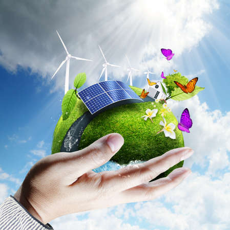 green earth in hand Stock Photo - 12001078