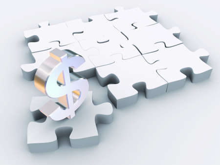 The missing piece is finance Stock Photo - 12001103