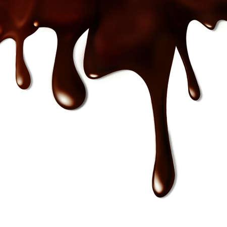 syrup: Chocolate derretido Foto de archivo