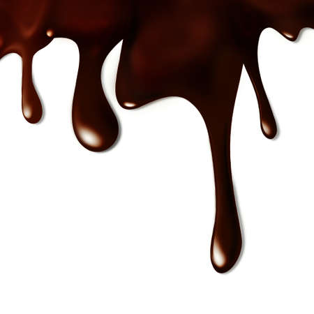 syrupy: Melted chocolate