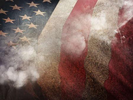 banderas america: Oscuro Grunge EE.UU. Bandera