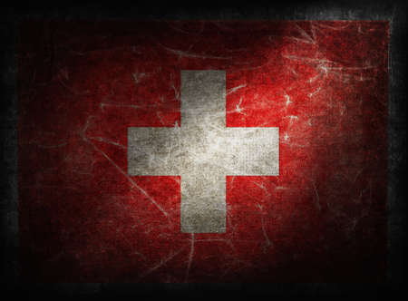 Switzerland grunge flag photo