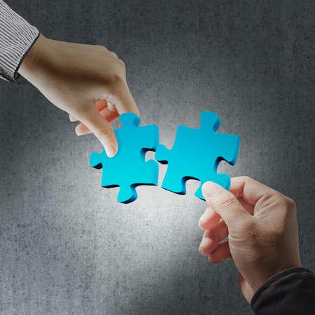 conundrum: puzzle in mano di business