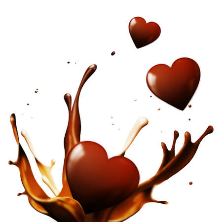 chocolate hearts Stock Photo - 12246777