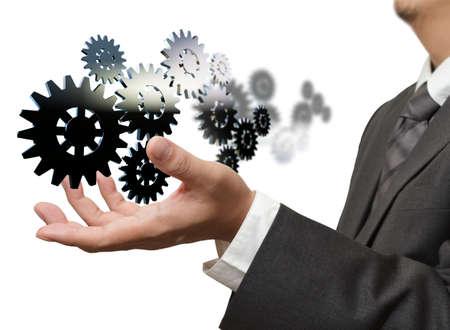 zasilania: bieg pokaz biznesmen do sukcesu