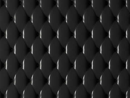 upholstered: black leather 3d Stock Photo