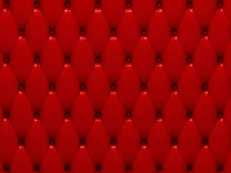 upholstered: red leather 3d