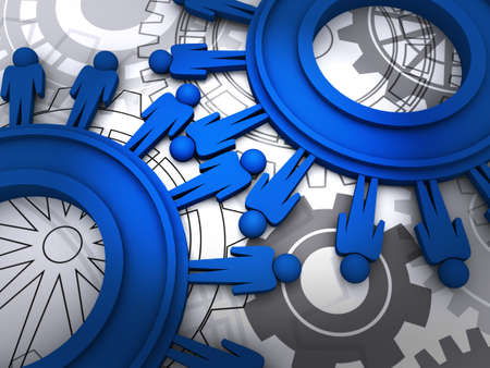 people cogs Stock Photo - 12246753