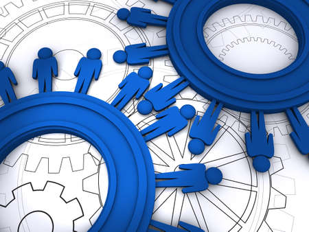 people cogs Stock Photo - 12601631