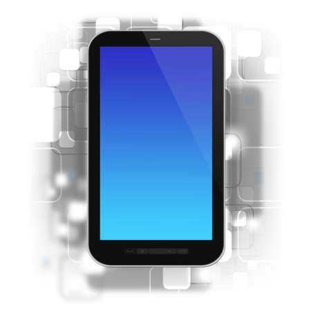 pda: smartphone on design background,3d rendering