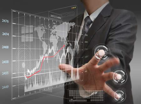 businessman working on modern technologyk Stock Photo - 12601834
