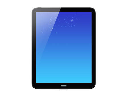 High-detailed tablet pc on white background, 3d render  Stock Photo - 12601640