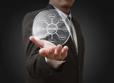 success flow chart in glass bubbles Stock Photo - 12601839