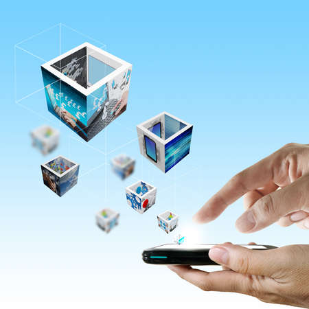 Touch screen mobile phone Stock Photo - 12601968