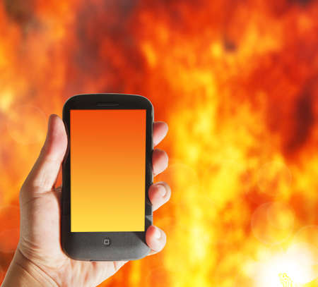 holding cell: hot smart phone