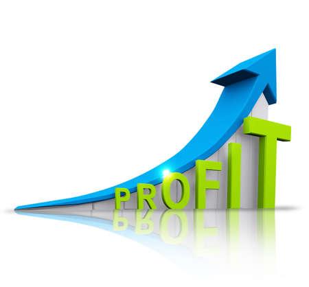 increase diagram: profit graphic
