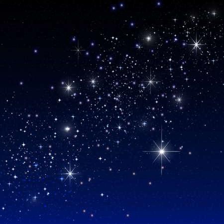 sonne mond und sterne: Sterne auf dem dunklen Lizenzfreie Bilder
