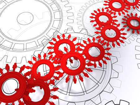 people cogs as concept Stock Photo - 12910555