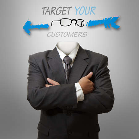 target your customers as concep photo