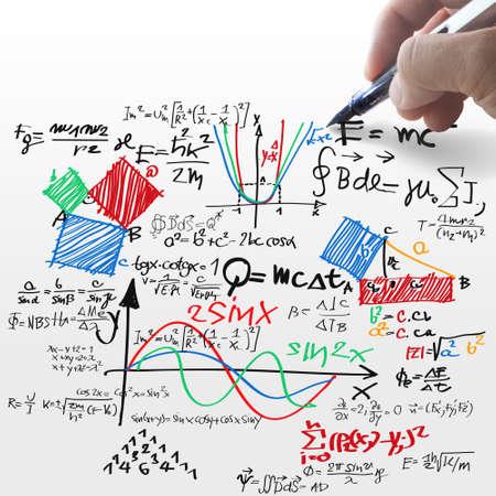 sencillez: Bien conocida fórmula física Foto de archivo