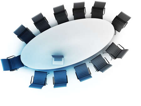 shareholder: Top view of a table for meeting with copy space Stock Photo