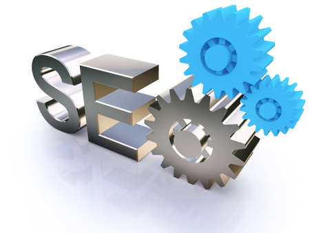 SEO - Search Engine symbol with gears photo