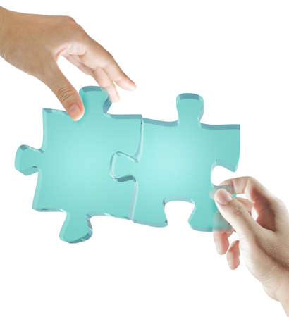 conundrum: glass puzzles in business hands