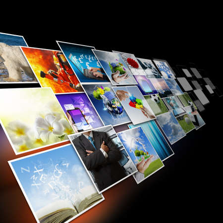 visual: visual communication and streaming images concept Stock Photo