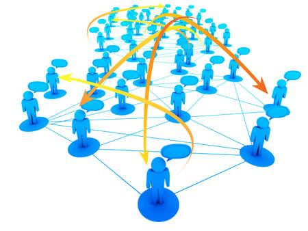 Social Network concept Stock Photo - 13181285