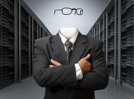 negocio concepto del hombre invisible