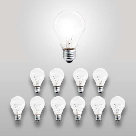 leader light bulb as concept photo