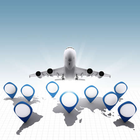 business social and travel icons photo