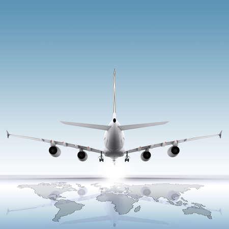 sensational: aircraft landing on the earth