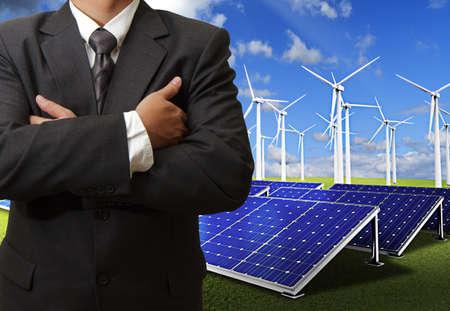 benign: business man success with energy saving