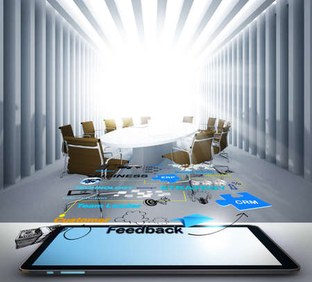 tablet computer and social network icon concept Stock Photo - 13181723
