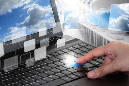 réseau de nuages ??et le concept salle informatique
