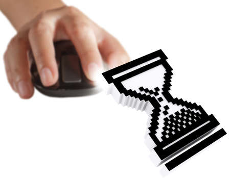 computer cursor and hand using mouse as computer concept Stock Photo - 13421910
