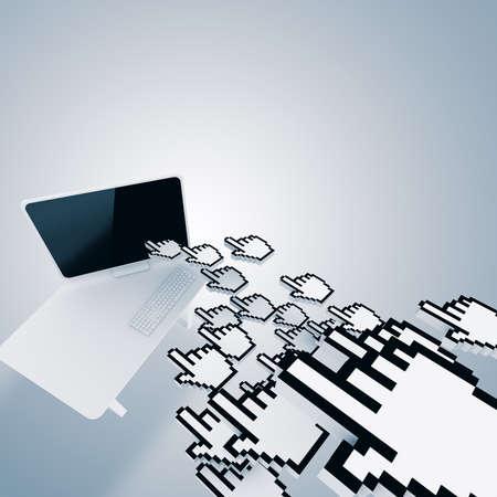 web service: concepto de tr�fico del sitio web aisladas sobre fondo blanco