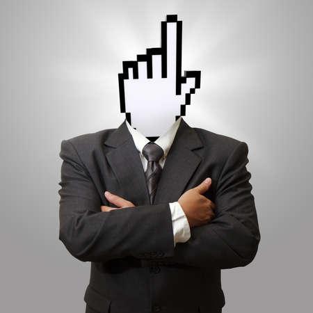 cursor head as internet concept photo