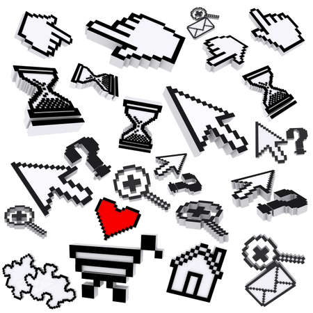 collection of pixel computer icons Stock Photo - 13652486