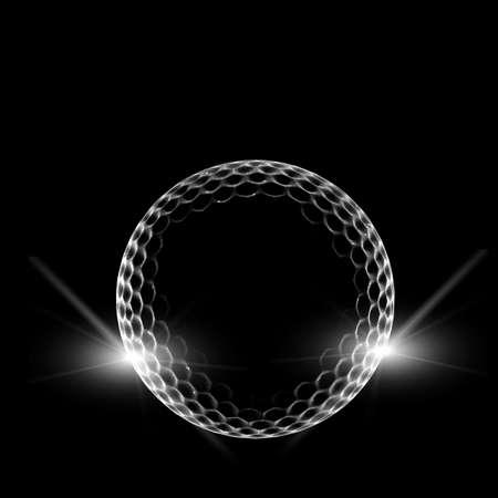 balle de golf sur fond sombre
