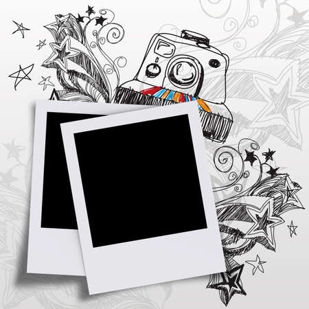 blank photos and doodle art photo