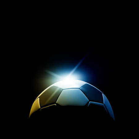 soccer fields: soccer ball detail on black background