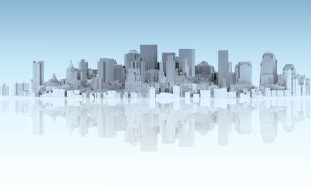 tornar: cidade abstrata isolada no ch
