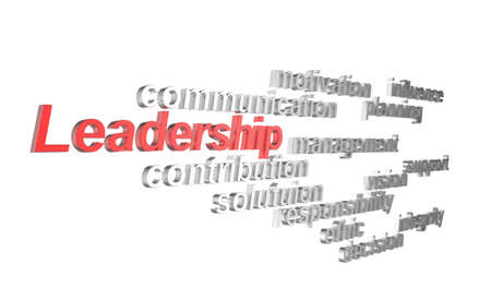 3d leadership and other related words concept photo