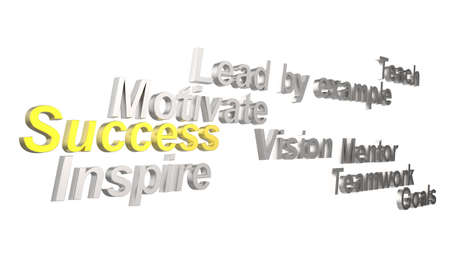 3d success and other related words photo