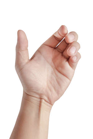 catch: Mano di un maschio caucasico di tenere card, cellulare
