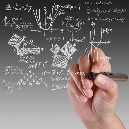 mathematical symbol: Ben nota formula fisica su bianco bordo Archivio Fotografico